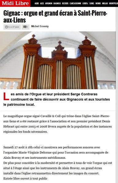 Concert gignac 27 08 2016