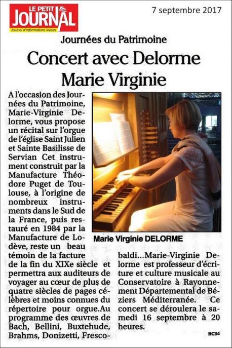 Concert orgue servian 16 09 2017