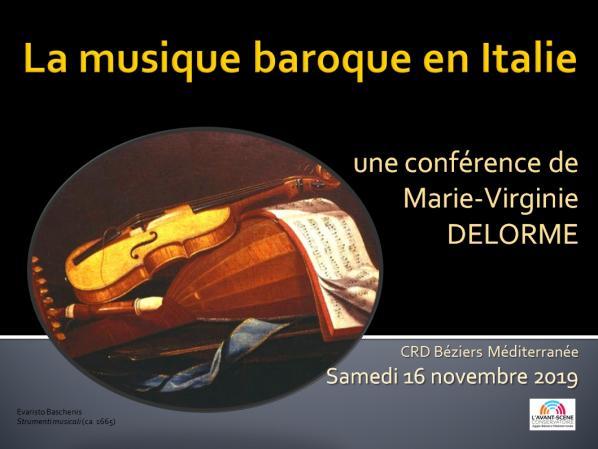 Conf musique baroque italie delorme 2019
