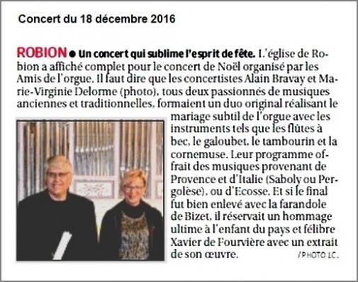 Presse robion concert du 18 dec 2016